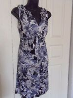 NEW Alfani Ruffled V-Neck Patterned Dress - Size Med (8-10)