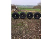 4x4 wheels with brand new tyres!