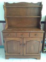 Wooden Kitchen Hutch