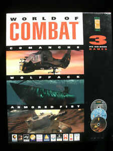 PC Game: WORLD OF COMBAT (3 PC Games) New and Factory Sealed!