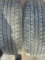 two pairs of 215 65 16 all season tires