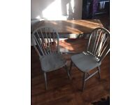 Shabby chic table and 2 chairs