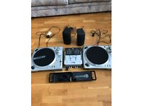 Numark decks mixer and twin turntables