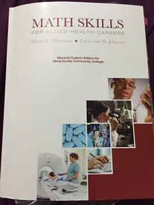 Math Skills for allied health careers & Intro Chemistry