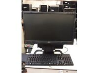 "All in one HP 8000 ultra slim PC base unit + 19"" TFT"