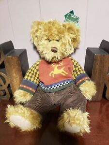 "15"" RUSS Teddy Bear plush  *NEW with tags* ""Medwin"" festive c"