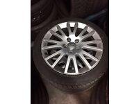 Audi 17 inch alloys x4 with 2 new tyres original Audi Rims