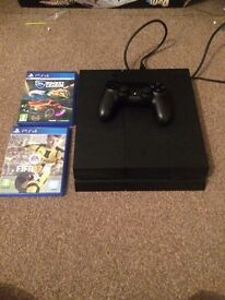 PlayStation 4 for sale with fifa 17 and rocket league