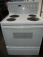 Electric stove for sale 100.00, white, works well, delivery avai