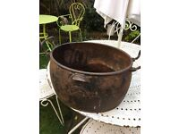 Vintage cauldron /planter