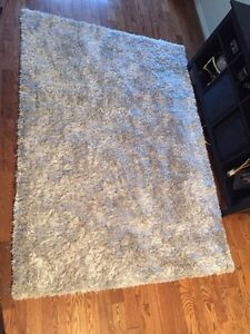Shag area rug 5x7 grey with some shine