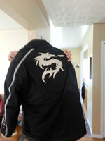 Ladies Dragon Rhyno Motorcycle Jacket-Size Large (Fits like Med)
