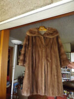 Real Mink Fur Coat, Fur Jacket and a Stole