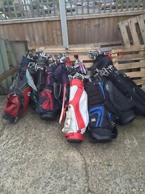 Over 200 golf clubs+ 17 Bags