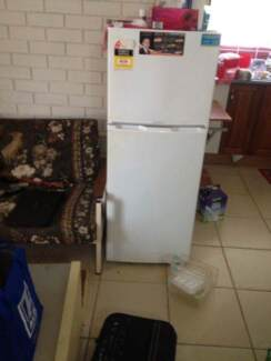 bed and mattress spring and fridge for sale