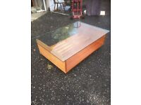 Heals Glass Top Coffee Table