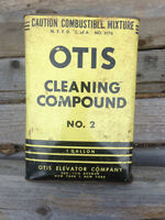 Vintage 1950's Otis Cleaning Compound Can