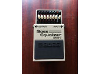 Boss Bass Equalizer effects pedal
