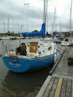 C&C 30 sailboat, with trailer and dinghy