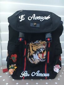Gucci Tiger Embroided Backpack New