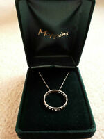 Mappins Sterling Silver and Diamond Necklace