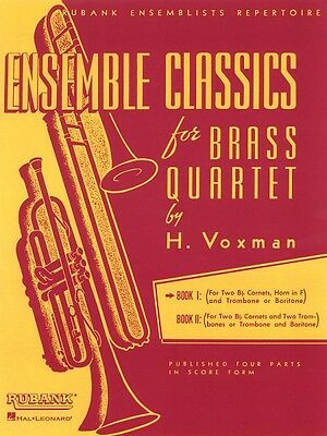 Ensemble Classics for Brass Quartet Book 1 Sheet Music for Two Cornets 004475329 ()