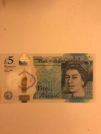 5£ plastic note AD 15692705