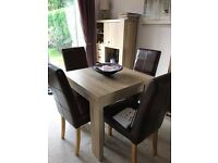 Dining table. Extendable. Plus two side units.