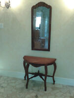 MOVING SALE, TABLE AND MIRROR, FRIDGE STOVE,PARTY LITE