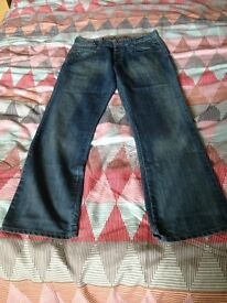 Mens Designer Lambretta blue jeans. Size W34 L