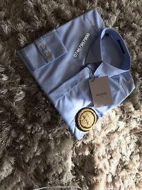 Balmain Sky Blue Shirt Size Medium Brand new