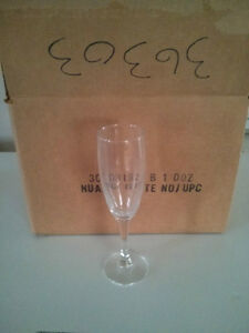 New cases of 12 Flute wine glasses 5 oz