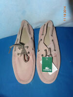 Lacoste Soulier mocassin loafer vrai cuir suède leather shoes