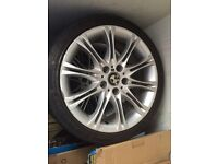 "BMW MV2 18"" ALLOYS WITH TYERS 5x120 SET OF 4"