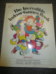 """Large paperback """"The Incredible Indoor Games Book"""""""