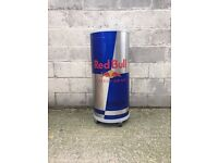 Tall redbull fridge on castors