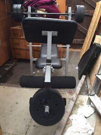 Weights bench press