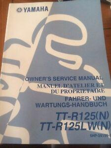 Yamaha TT-R125(N) TT-R125LW Owners Service Manual