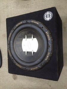 "Bassworx 12"" subwoofer enclosures, one with PG Xenon Subwoofer"