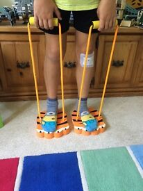 Pair of fun tiger play feet