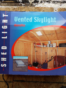 Shed vented skylight