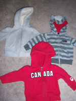 boy's hoodies 3-6 mo