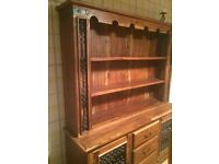 Solid ACACIA wood dresser sideboard unit