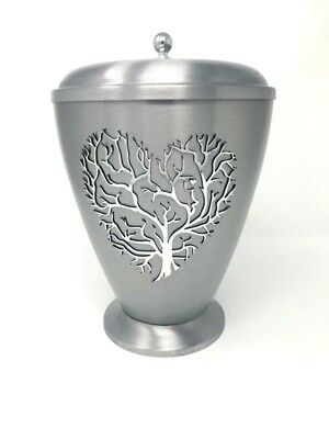 metal urn for ashes  tree of life funeral urn