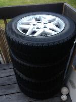 Mags Original Dodge avec pneus Blizzak W60 hiver - 205/65/R16