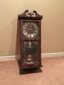 Chiming wall clock - grandfather style