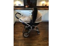 Silver Cross Surf Travel System Pushchair Pram Sand Stroller Buggy Unisex Buggy Board