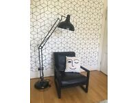Black Retro Floor Lamp