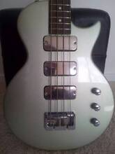 2002 GRECO (IBANEZ) LGB700 SILVER FLAKE LP STYLE BASS + SOFT CASE Newcastle 2300 Newcastle Area Preview