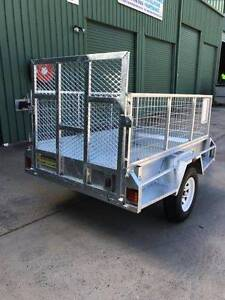 7x4 Trailer HD Built-Incl 600mm Cage with Full width Loading Ramp Toogoolawah Somerset Area Preview